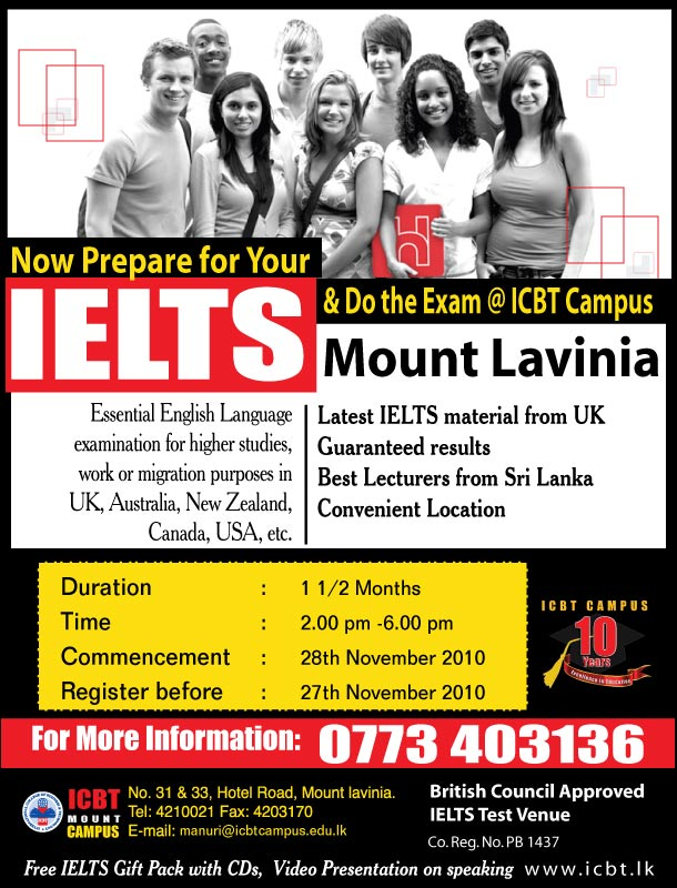 IELTS courses at Sri Lanka